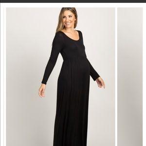 Black PinkBlush Maxi Maternity Dress